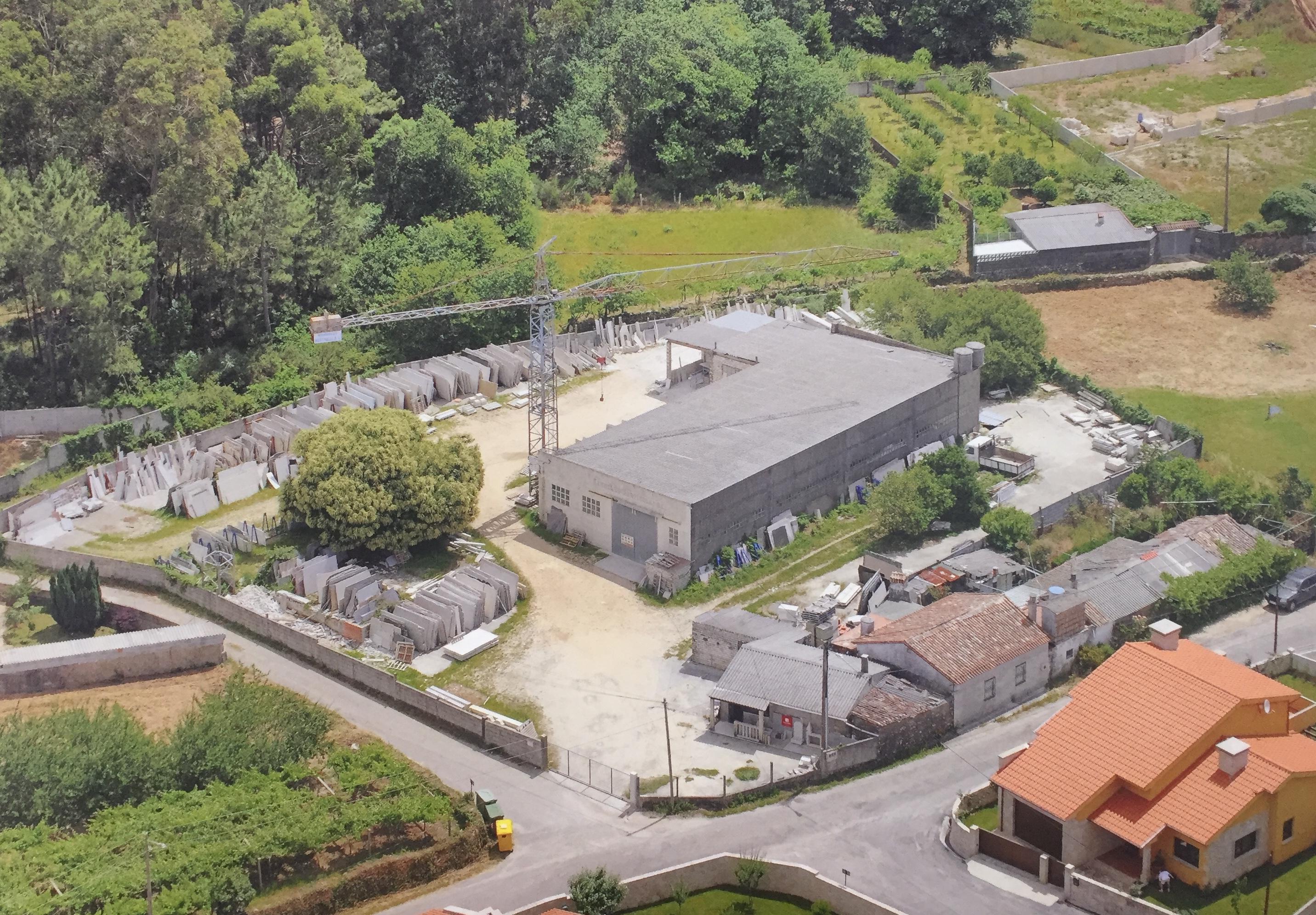 Vista aérea de Mármoles Martinelli